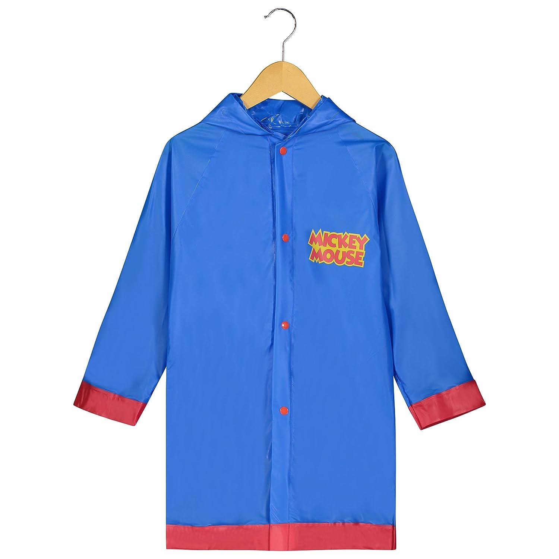 Disney Mickey Mouse Little Boys' Waterproof Outwear Hooded Rain Slicker Toddler