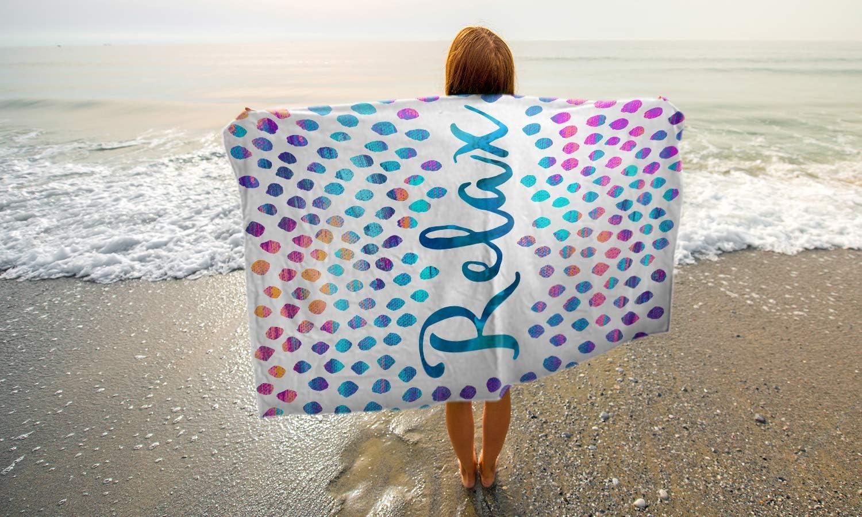 Dise/ño de Elisabeth Fredriksson Gallery of Innovative Art Toalla de Playa 150x100 cm Be Humble Toalla de Playa para atrapar Hecha de Felpa Agradable para la Piel