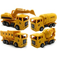 SaleON Unbreakable Friction Powered Engineering Construction Toy Set for Kids (Set of 4) -1269