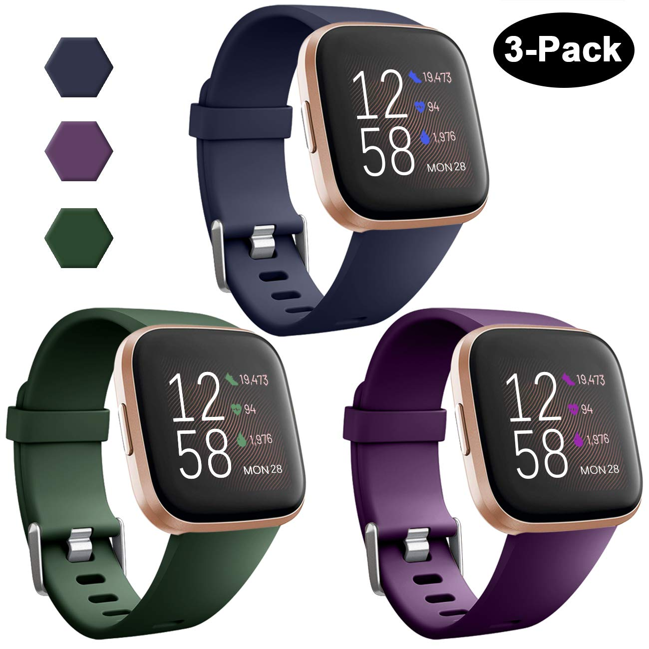 Mallas Reloj Fitbit Versa/fitbit Versa Lite (3 Unid) Talle L
