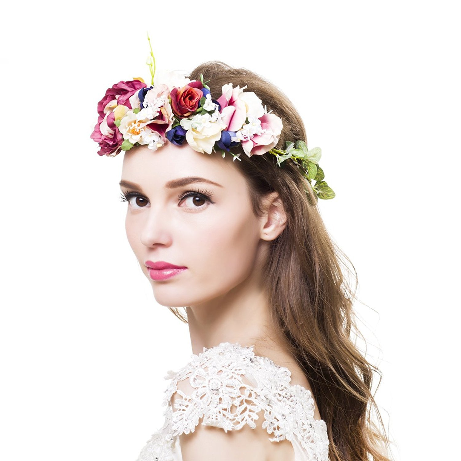 Wedding Flower Crown Headpiece Amazon