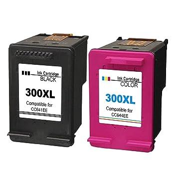 Kyansin 2X Remanufactured pour Cartouches d encre HP 300 XL 300XL  Compatible pour imprimante HP 780a2cf124e7