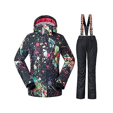 c68e2d729c Women s Winter Waterproof Windproof Insulatd Snowboarding Jackets Ski Snow  Coats and Pants