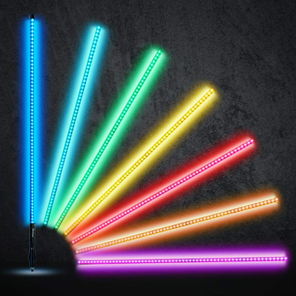 4FT 1PC LED LIGHT WHIP Spiral Dancing /& Chasing Light Flag Pole with Wireless Remote Control for ATV UTV Truck Polaris RZR XP 1000 Can am Maverick X3 Chasing /& Dancing, 4FT