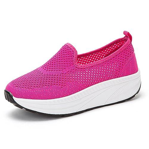 Hishoes Zapatillas de Nordic Walking de Malla para Mujer: Amazon.es: Zapatos y complementos