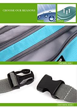 ef144c901212 Kayboo Waist Bag Travel Pouch Pack with Waist Strap Fanny Pack for ...
