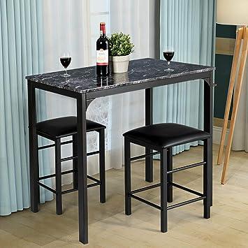 Swell Amazon Com Stark Item 3 Piece Counter Height Dining Set Ibusinesslaw Wood Chair Design Ideas Ibusinesslaworg