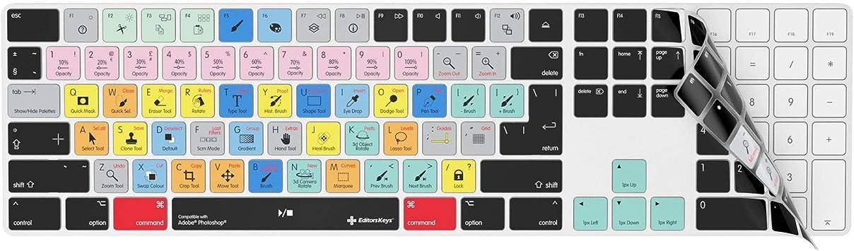 Adobe Photoshop - Funda para teclado inalámbrico Apple Magic con teclado numérico | Funda KB de teclas de edición