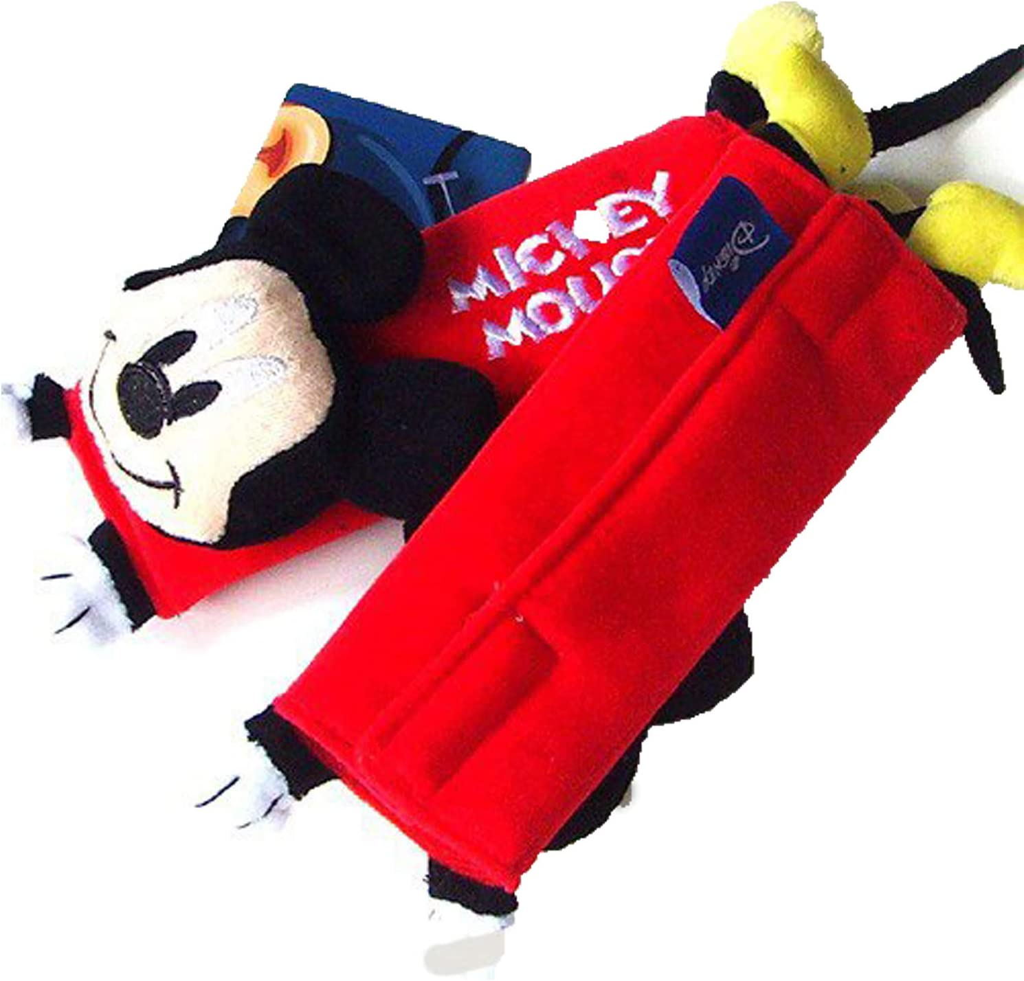 Disney Mickey Mouse Design Multi Use Auto Car seat belt cover Plush Seat Shoulder Pad Cushion 2 pcs One Pair by newnews