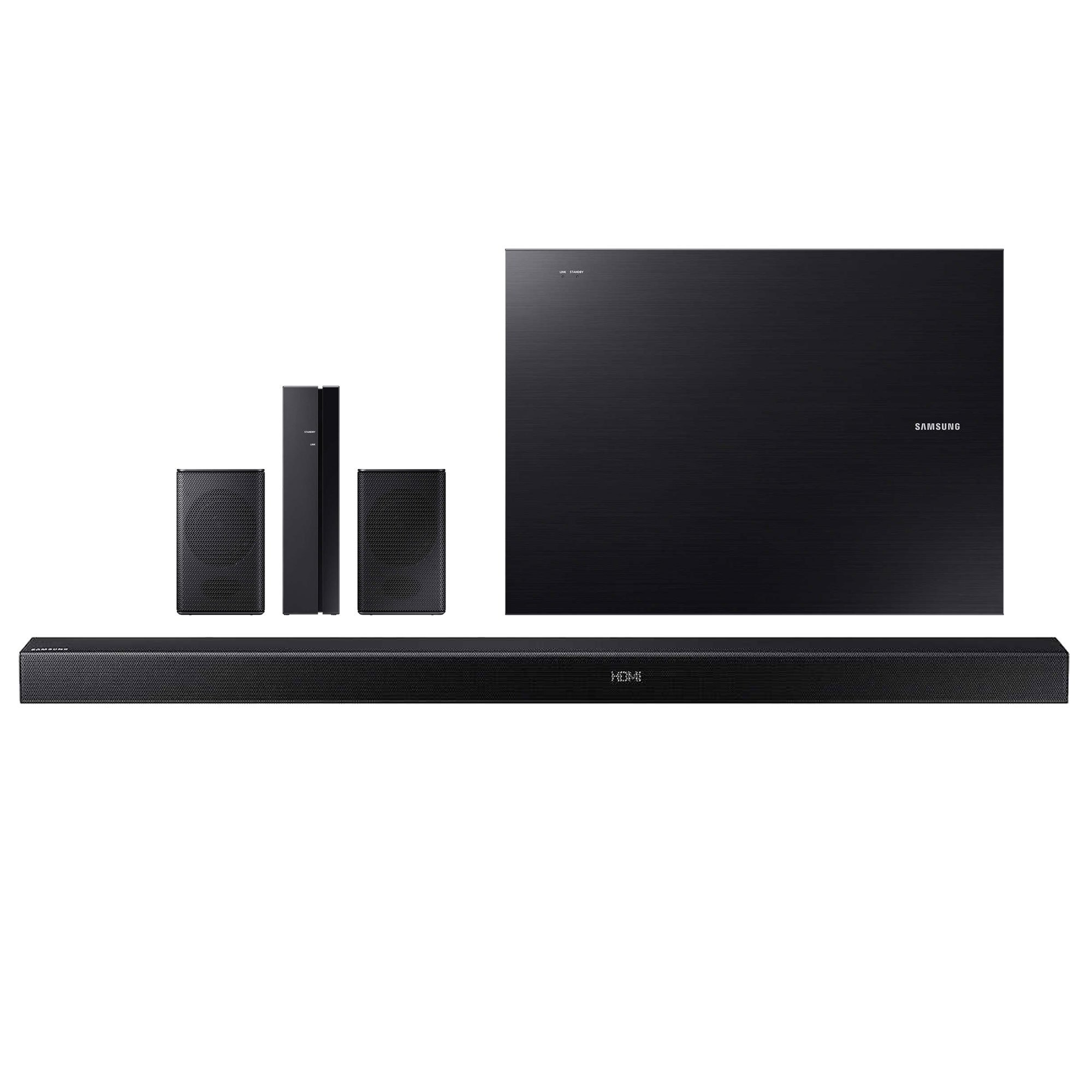 Samsung 5.1 Channel Sound Bar System With Wireless Sub And Rear Speakers Bluetooth, Black (Certified Refurbished) by Samsung