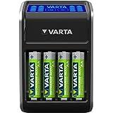 Varta LCD Plug Ladegerät für AA/AAA/9V und USB-Geräte schwarz (Design kann abweichen)