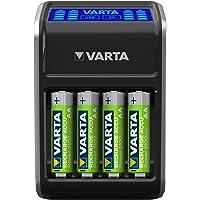 VARTA LCD Plug lader voor AA/AAA/9V en USB-apparaten (incl. 4x AA 2100 mAh) zwart