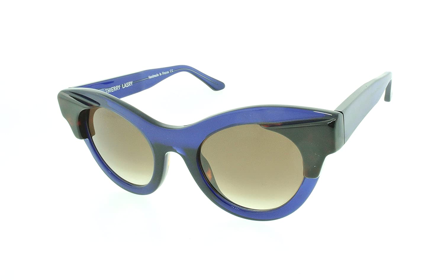 Amazon.com  Thierry Lasry Nymphomany Cat-eye Sunglasses Composite Frames ( Purple, Gradient Grey)  Clothing d403ac9a67c3