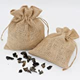 20 Pcs Faux Burlap Bags Wedding Paty Favor Small