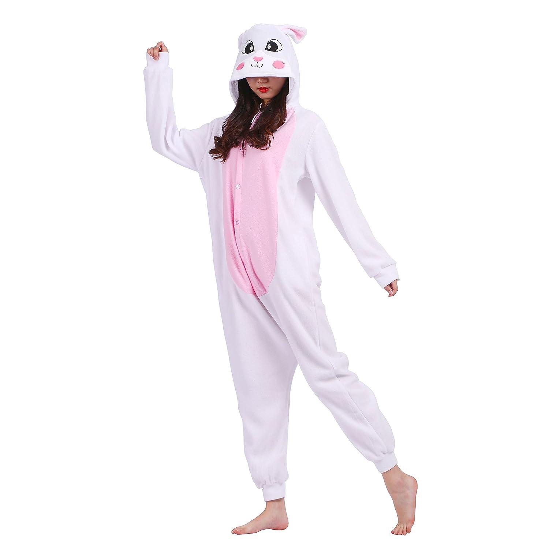 PALMFOX Pijama Animal Onesie Entero para Adultos Pijama Mono Animal para Mujer Hombre Disfraz para Navidad con Capucha Invierno Franela: Amazon.es: Ropa y ...