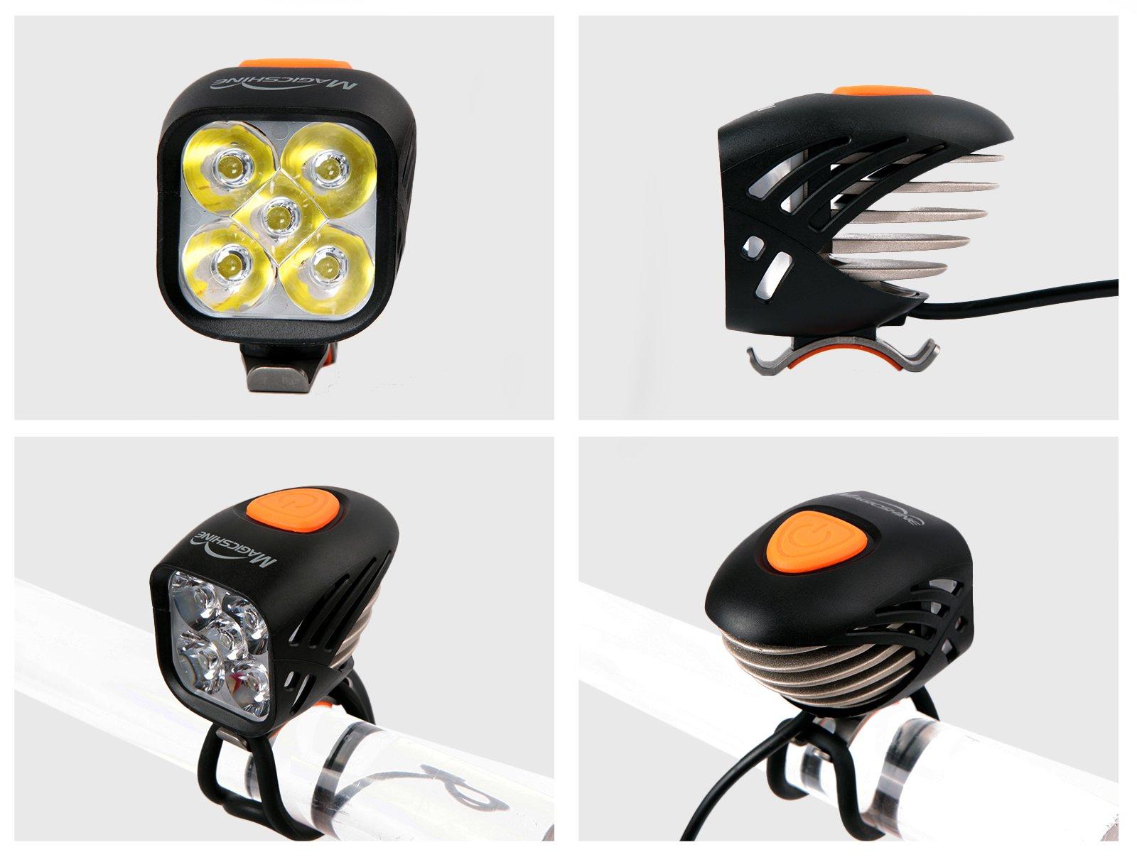 Magicshine MJ 906, High Grade MTB Enduro Bike Light Set, 5000 Lumens of Max output. Wireless Remote Bicycle Lights Front And Rear Combo, LED Bike Tail Light, Perfect Beam Pattern Bright Bike Light by Magicshine (Image #5)
