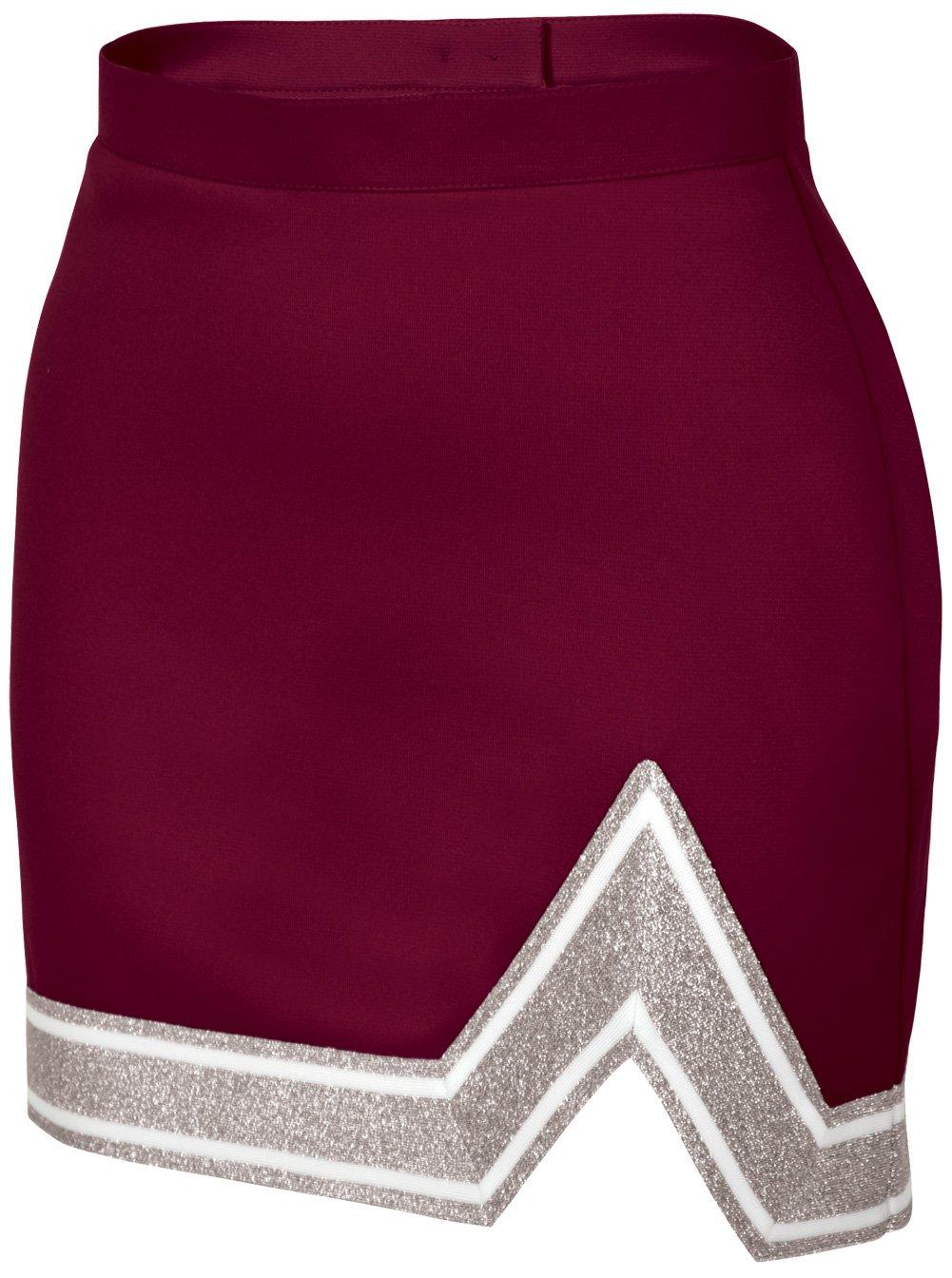 Chassé Womens' Blaze Skirt Maroon/White/Metallic Silver Adult X-Small