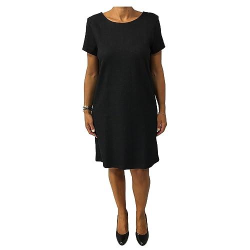 LA FEE MARABOUTEE abito donna grigio/nero 50% cotone 38% viscosa mod 5034