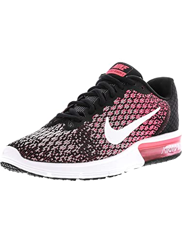 4dc3a1d5ff Nike Womens Air Max Sequent 2 Running Shoes Black/White/Racer Pink 852465-