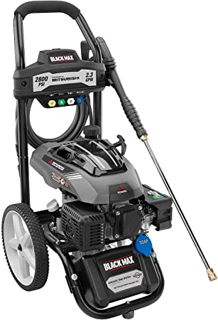 Black Max 2800 PSI Pressure Washer with Mitsubishi Engine