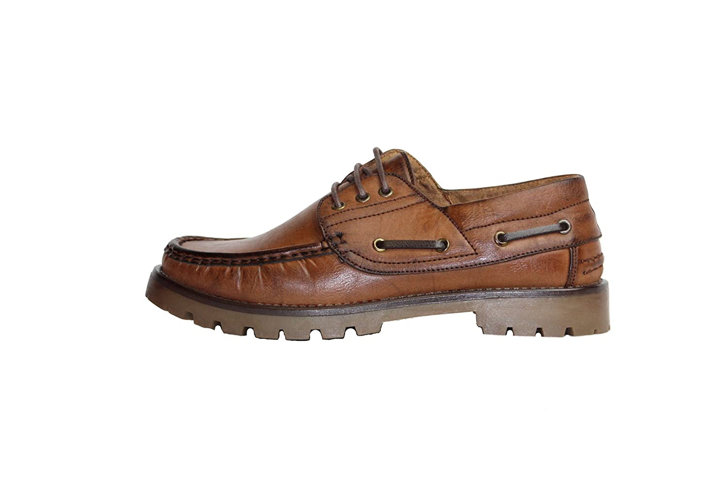 Amazon.com | beverly st Mens Leather Casual 3 Eyes Boat Deck Dress Shoes (Less) | Loafers & Slip-Ons