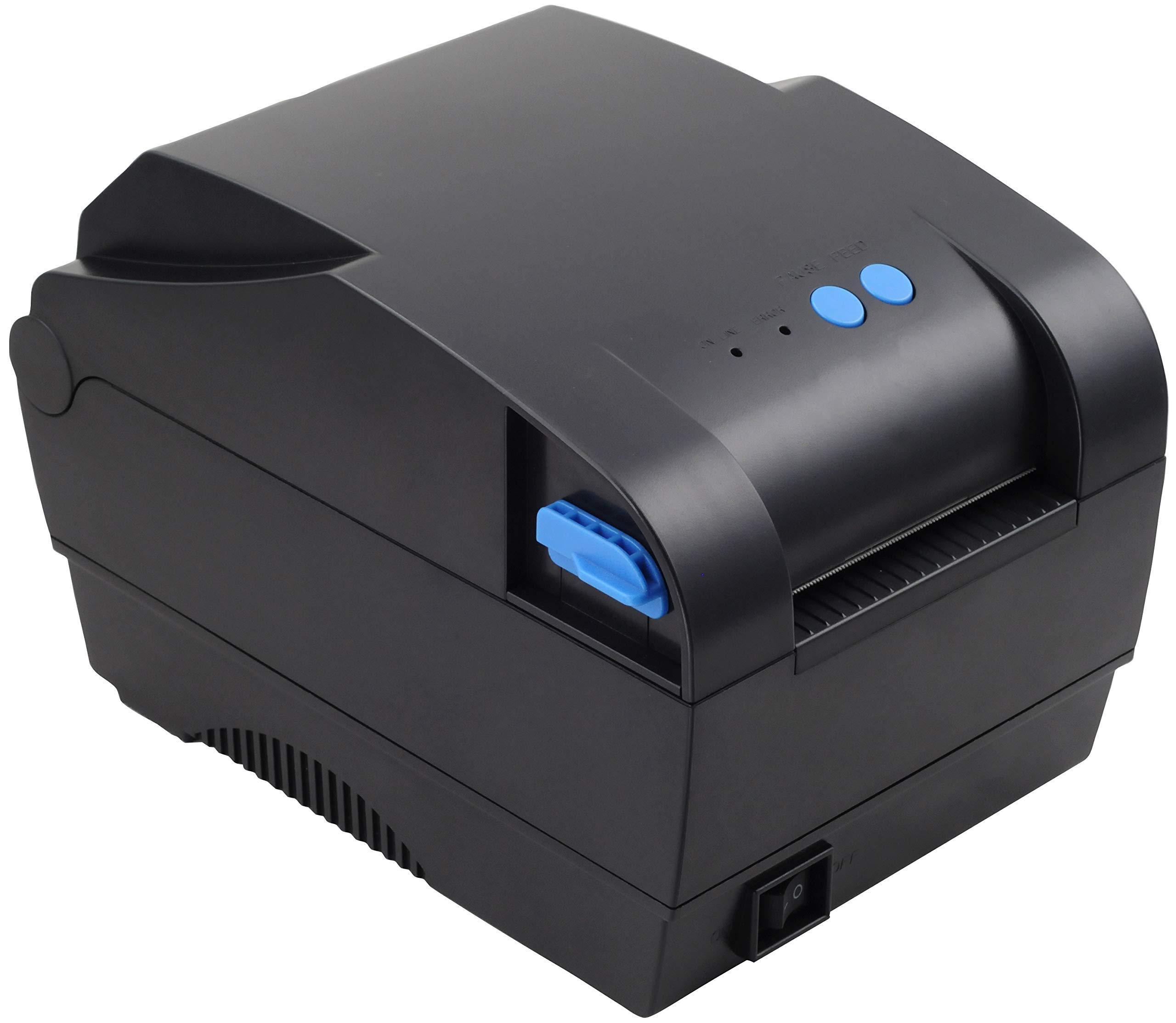 Xprinter XP-365B 80mm Thermal Label Printer,Thermal Barcode Printer, USB 2.0 Interface, Black