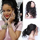 Wrap Drawstring Short Afro Kinky Curly Human Hair Puff Ponytail Extensions with Clips 4b 4c Natural Curly Top Closure Clip Ins Ponytail Extensions for African American Women