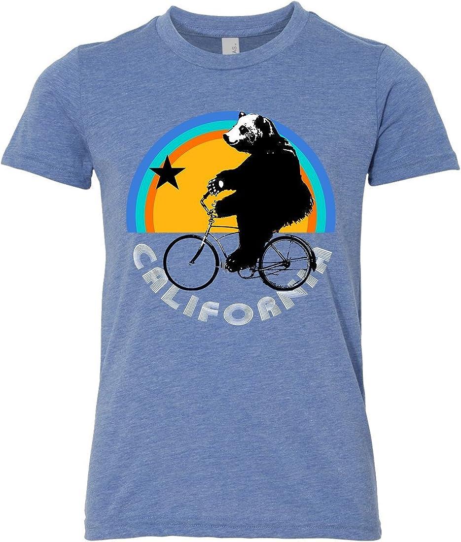 California Bear On Bike Asst Colors Youth T-Shirt//tee