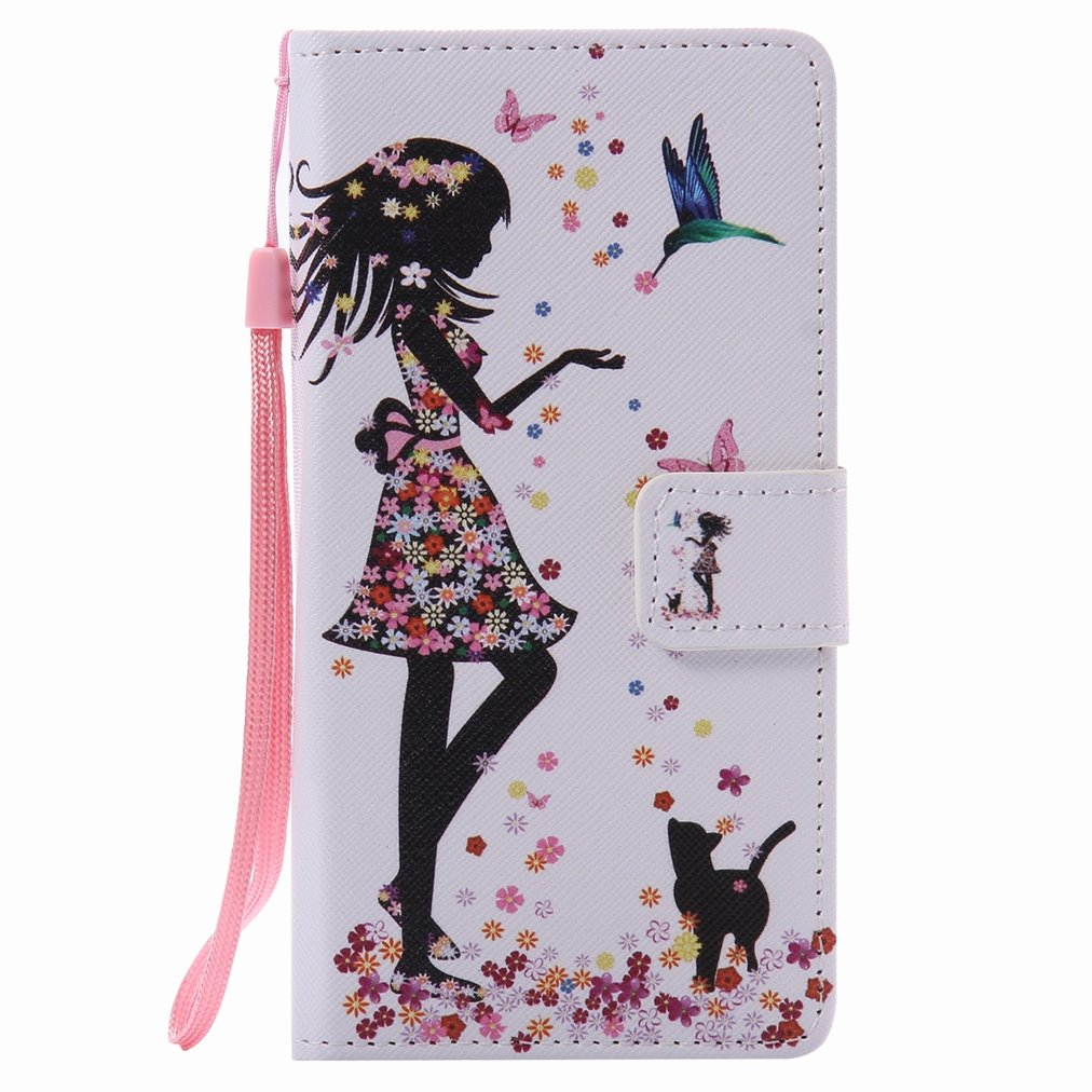 For Huawei P9 Lite Case, Ougger Girl Style Wallet Cover Card Slot Premium PU Leather Flip Case Magnetic Bumper Pouch Holster Stand Silicone with Soft TPU Shell OGZ10648