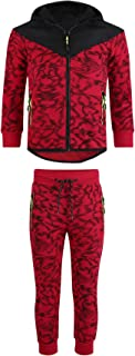 LotMart Boys Quilted Hood 2Piece Tracksuit Scratch Print