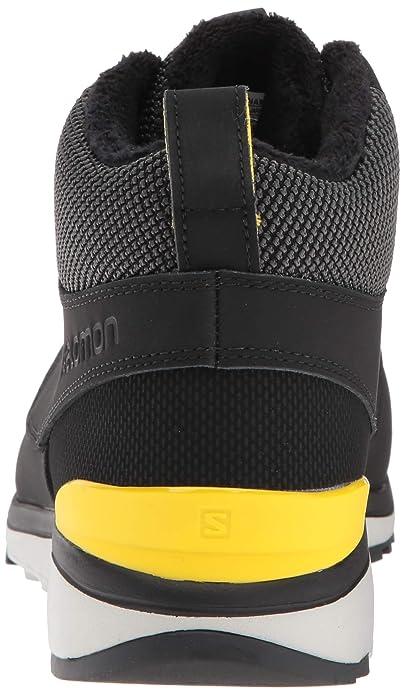 Salomon Utility Freeze CS WP Shoes Men BlackBlackEmpire Yellow 2018 Schuhe