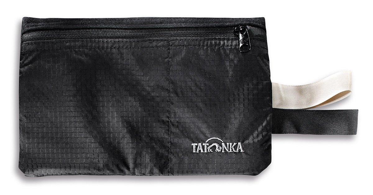 TALLA 12,5 x 19 x 1cm. Tatonka - Cartera con Cremallera Negro Negro Talla:12,5 x 19 x 1cm