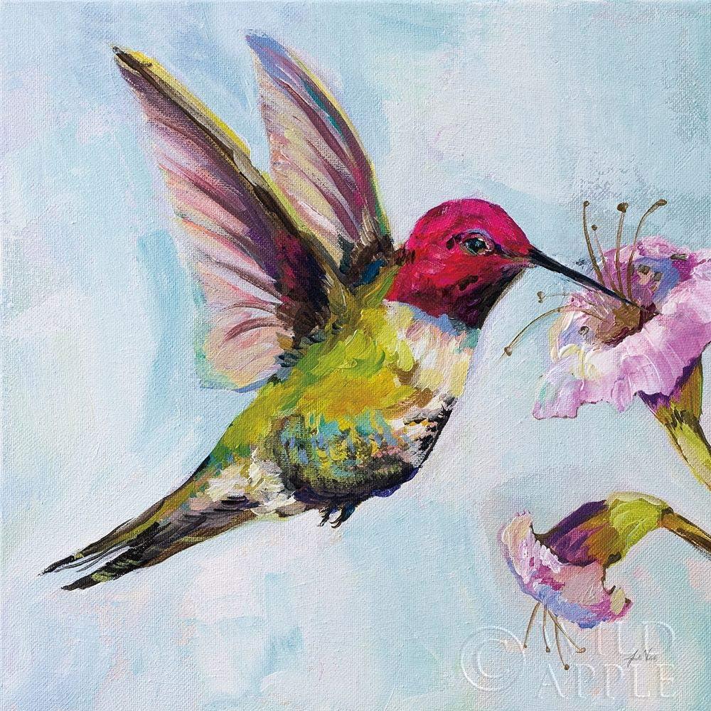 Posterazzi PDX63454SMALL Hummingbird Jeanette Vertentes Poster Print, 18 x 18, Multicolor