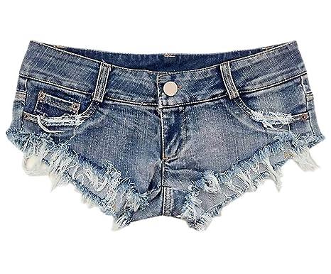 Femme Mini En Jean Court Taille Pantalon Short Basse Ajouré Bigood OZiTuPkX