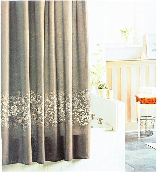 LIFE Cortina de ducha, cortina de ducha del material del algodón y ...