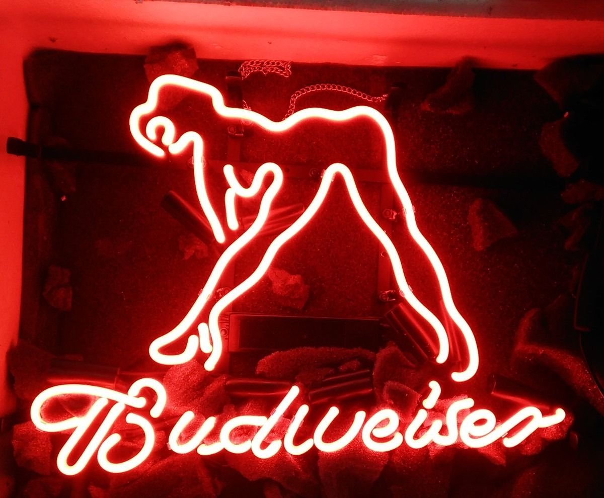Desung New 17''x13'' B udweiser SEXY LADY GIRL Neon Sign (Multiple Sizes Available) Man Cave Signs Sports Bar Pub Beer Neon Lights Lamp Glass Neon Light CX205 by DESUNG