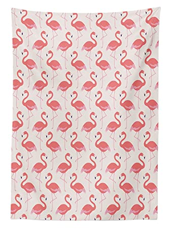 Flamingo Decor Tischdecke Ornament Feminine Bird Design Esszimmer Küche  Tisch, Rechteckig, Schutzhülle, Multy