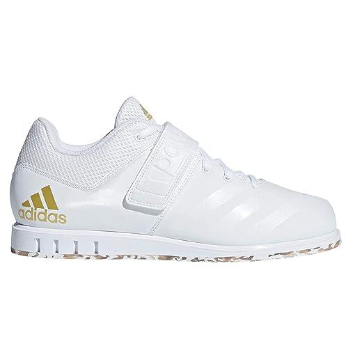 adidas Powerlift.3.1, Zapatillas de Deporte para Hombre, Weiß (FTWR White/Gold Met. 001), 43 1/3 EU: Amazon.es: Zapatos y complementos