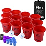 Jumbo Beer Pong Set for Outdoor - Jumbo Cup and Pong Throwing Game for Yard, Party, Bar, Lawn, Backyard, Tailgating