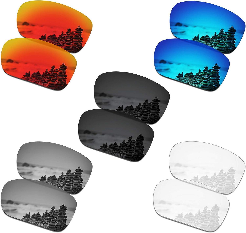 SmartVLT Set of 5 Men's Replacement Lenses for Oakley TwoFace Sunglass Combo Pack S01