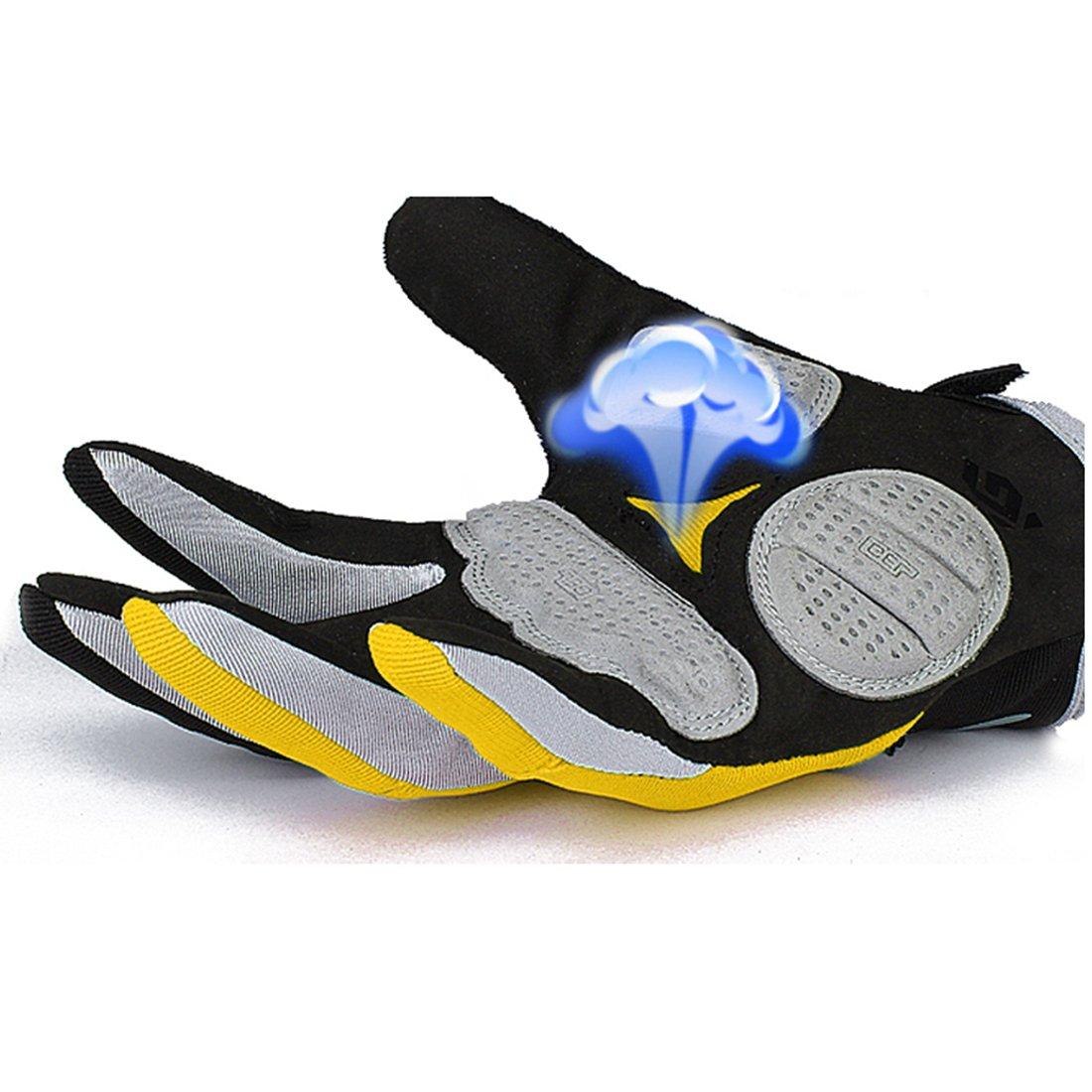 Cgecko Hombre Reflex Gel Bicicleta Guantes Ciclismo Esquí - Tabla de skate (Shock almohadillas, color Azul - azul, tamaño XL: Amazon.es: Deportes y aire ...