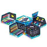 52 Pcs Craft Art Artists Paints Pens Pencils Set Great Gift For Kids!