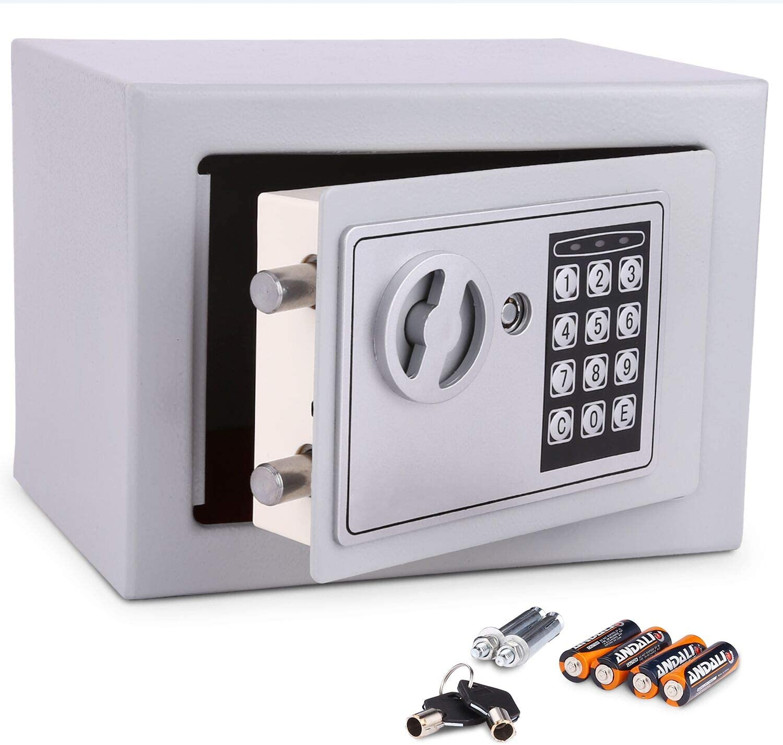Meykey Caja Fuerte Electrónica Caja Seguridad 230X170X170 mm ...