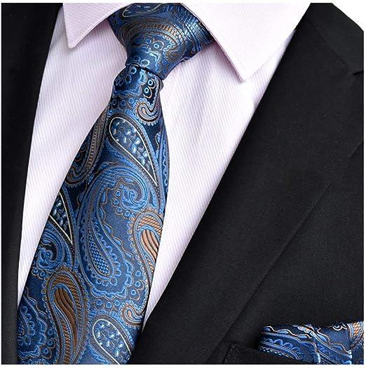 Yuany Pañuelo de Seda clásico con Bolsillo de Corbata de Paisley ...