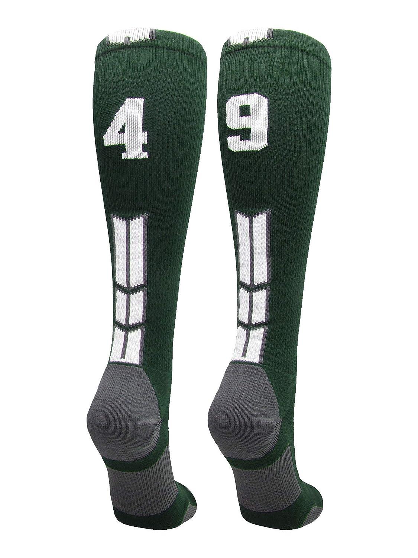 MadSportsStuff Player Id Jersey Number Socks Over The Calf Length Dark Green White