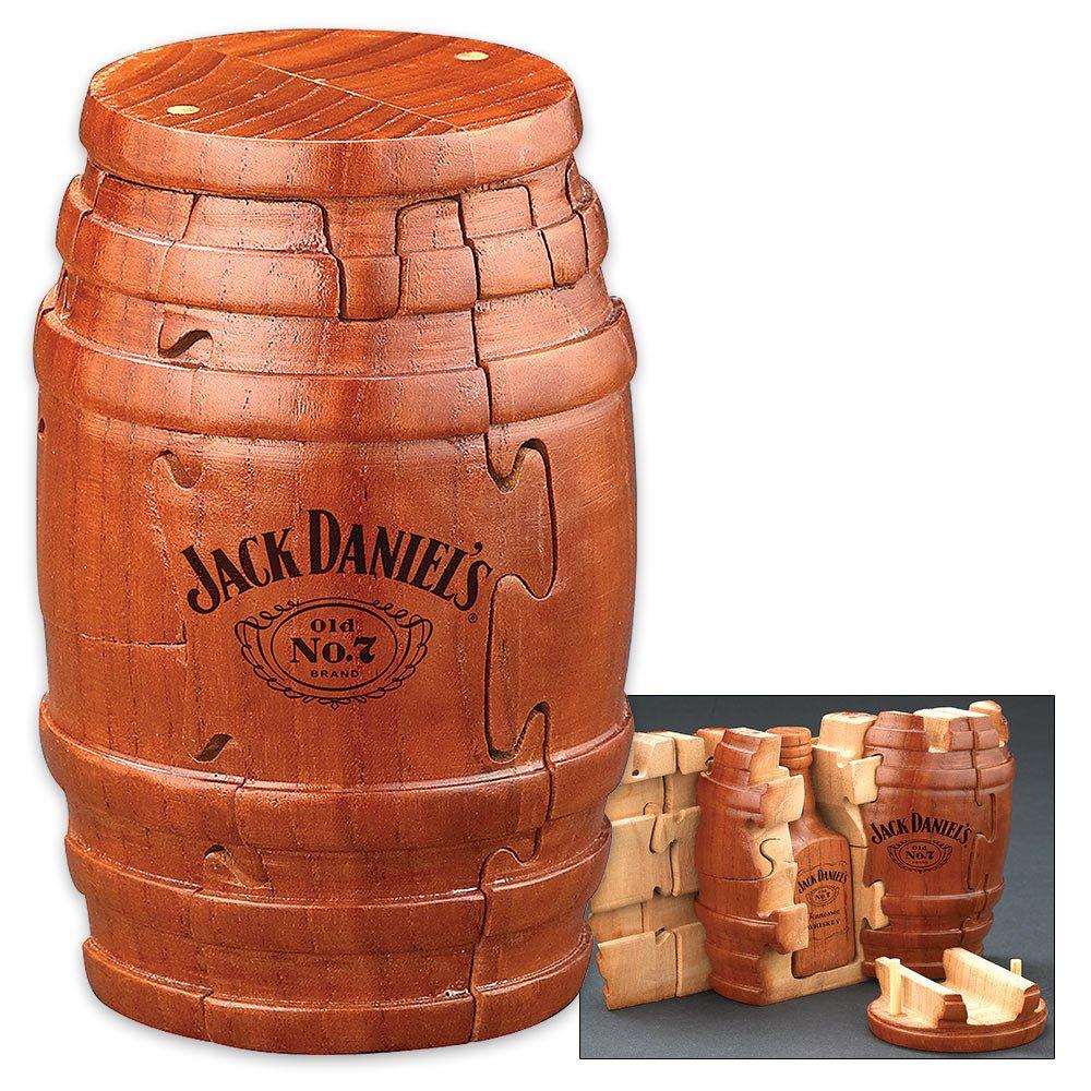 Jack Daniels Wooden Whiskey Barrel Puzzle Puzzle Master 8730