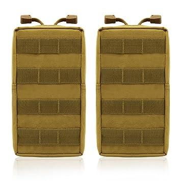 TANG SHI® 2 Pack Bolsas Molle - Multiusos táctico compacto ...