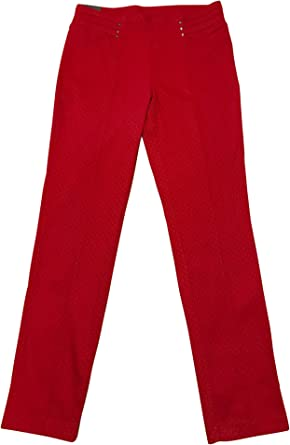 Amazon Com Rafaella Pantalon De Vestir Para Mujer Talla 12 Color Rojo Clothing