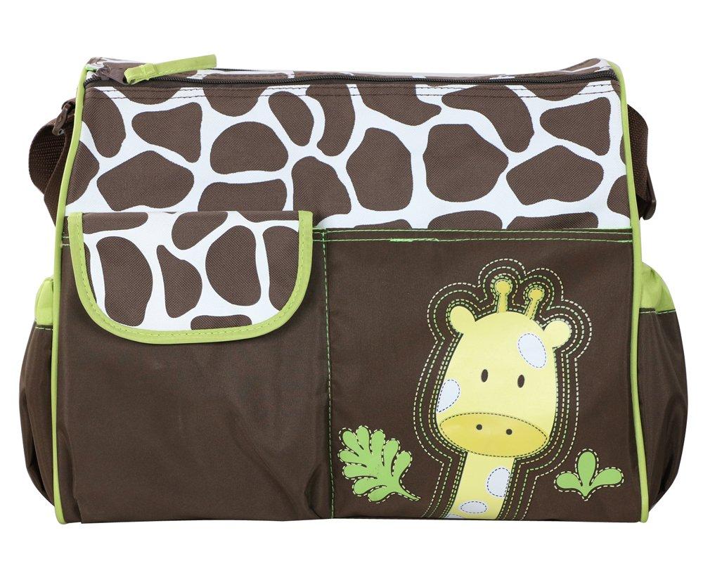 Zebra Pink Accessotech Waterproof Baby Diaper Nappy Mummy Changing Handbag Shoulder Bag with Mat Travel