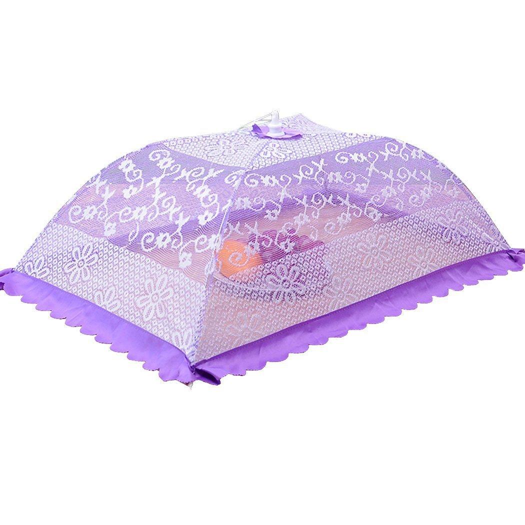 SOOANN Zusammenklappbare Pop-Up-Lebensmittelabdeckung, 81 x 55 x 26 cm, Netzgewebe violett